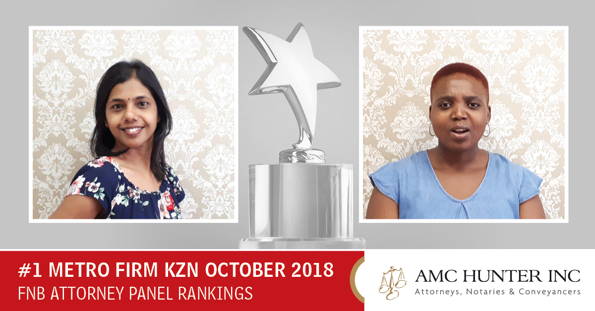 We Ranked Top On The FNB Attorney Panel For Metro Firms In KZN For October 2018