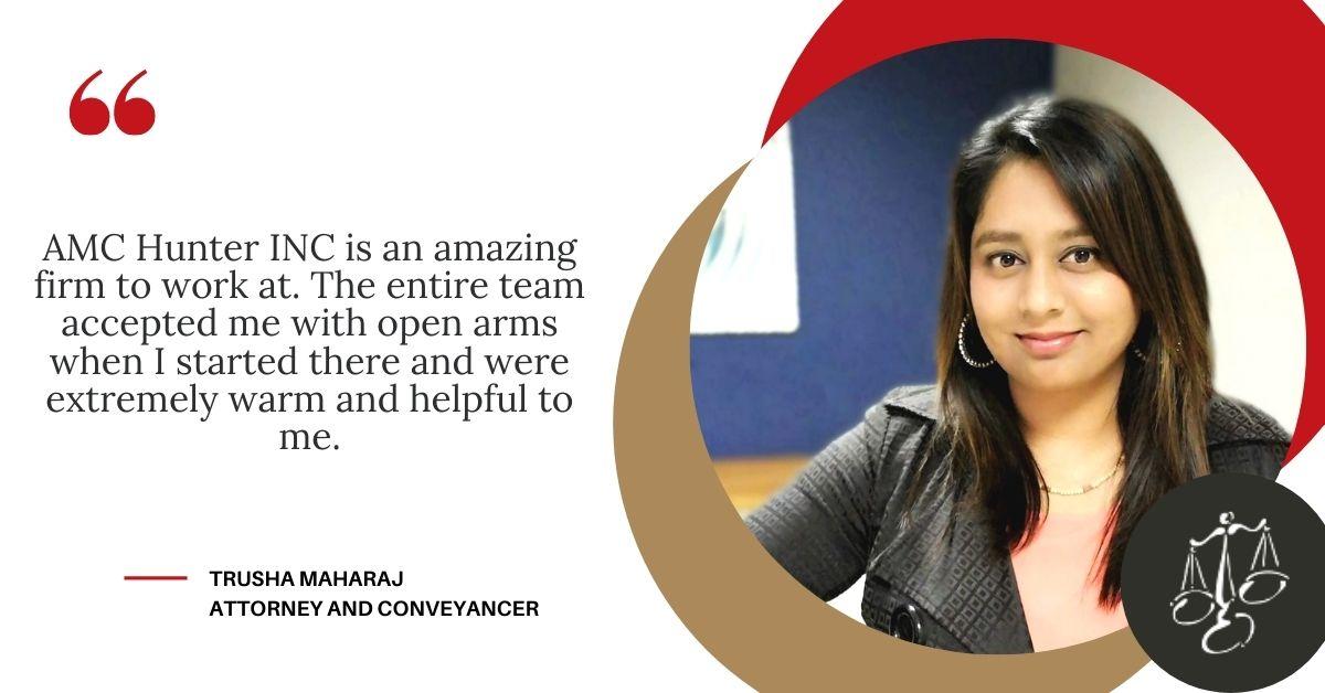 Trusha Maharaj: Working At AMC Hunter INC